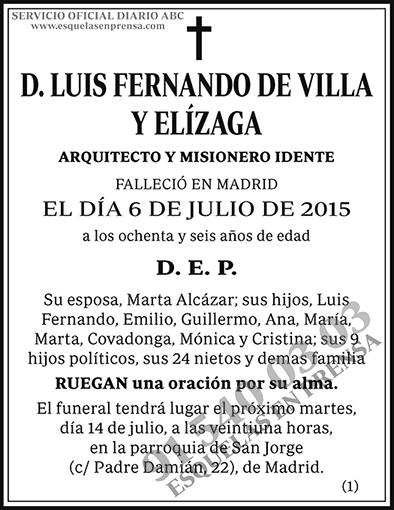 Luis Fernando de Villa y Elízaga
